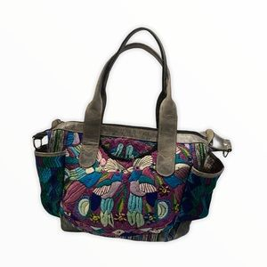 Guatemala Huipil Leather Large Convertible Bag